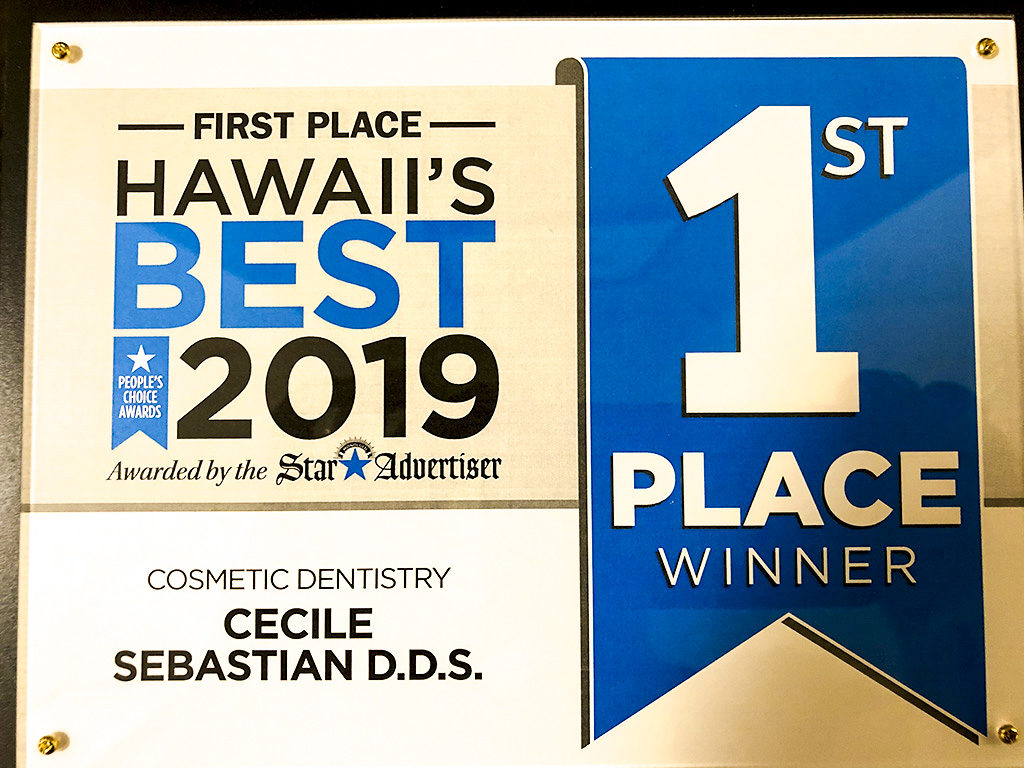 Honolulu Star Advertiser First Place Cosmetic Dentist