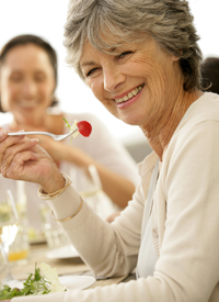 Image of woman eating healthy